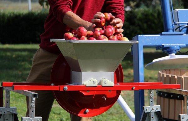 Дробление яблок